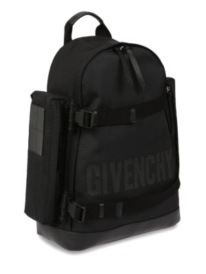 Givenchy: backpacks online - Clasp straps logo backpack