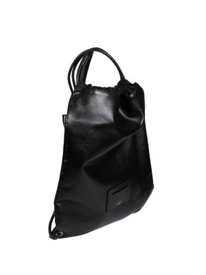 Givenchy: backpacks online - POLISHED LEATHER FLAT BACKPACK