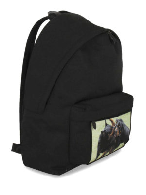 Givenchy: backpacks online - Rottweiler Fight nylon backpack