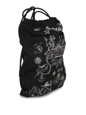 Givenchy: backpacks online - Tattoo print drawstring backpack