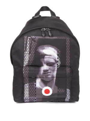 Givenchy: backpacks - Printed nylon dome backpack