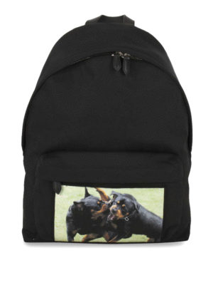Givenchy: backpacks - Rottweiler Fight nylon backpack