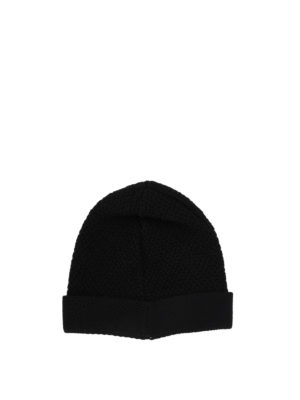 Givenchy: beanies online - Black and red wool beanie