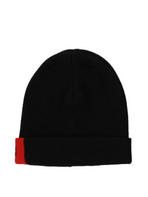GIVENCHY: berretti - Berretto in lana con dettaglio rosso
