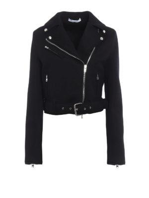 Givenchy: biker jackets - Scuba effect jersey biker jacket
