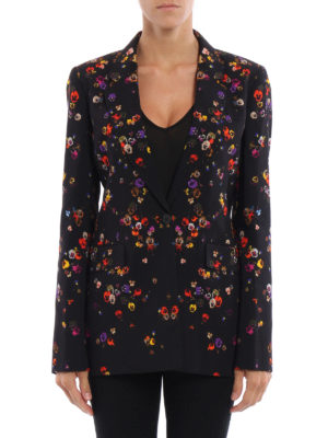 Givenchy: blazers online - Signature silhouette printed blazer