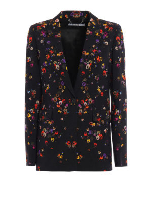 Givenchy: blazers - Signature silhouette printed blazer
