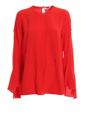 Givenchy: blouses - Bell sleeve silk blouse