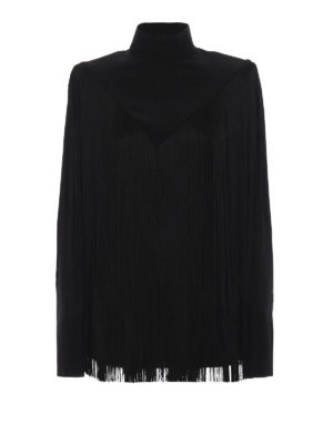 GIVENCHY: bluse - Blusa in seta con frange