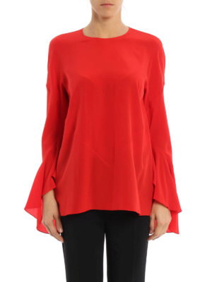 Givenchy: blouses online - Bell sleeve silk blouse