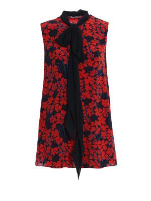 GIVENCHY: bluse - Blusa ampia in seta con sciarpina