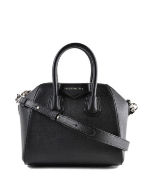GIVENCHY: bauletti - Borsa Antigona Mini in pelle nera