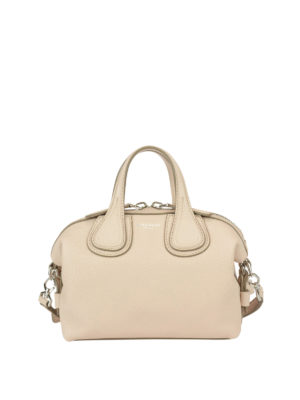 Givenchy: bowling bags - Micro Nightingale leather bag