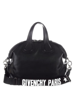 Givenchy: bowling bags - Nightingale small black bowling bag