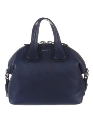 Givenchy: bowling bags - Nightingale small blue bowling bag