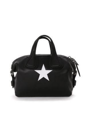 Givenchy: bowling bags - Nightingale star detail bowling bag