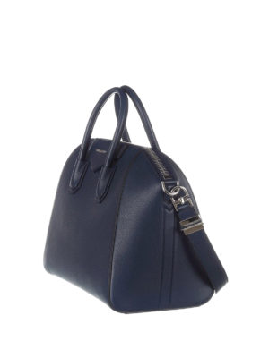 Givenchy: bowling bags online - Antigona medium blue leather bag