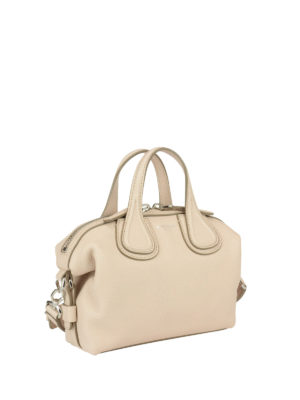 Givenchy: bowling bags online - Micro Nightingale leather bag