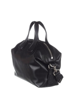 Givenchy: bowling bags online - Nightingale small black bowling bag