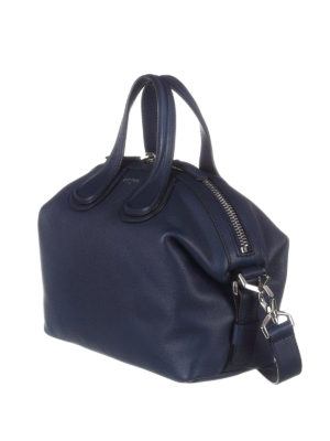 Givenchy: bowling bags online - Nightingale small blue bowling bag