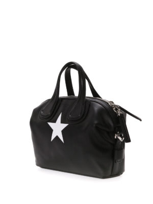 Givenchy: bowling bags online - Nightingale star detail bowling bag
