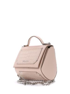 Givenchy: bowling bags online - Pandora Box mini chain bowling bag