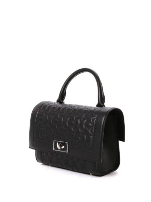 Givenchy: bowling bags online - Shark star quilted leather bag