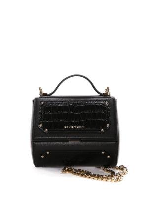 Givenchy: bowling bags - Pandora Box mini chain bowling bag