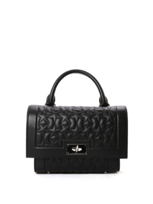 Givenchy: bowling bags - Shark star quilted leather bag