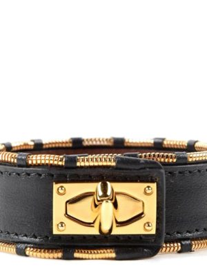 Givenchy: Bracelets & Bangles online - Shark leather and steel  bracelet