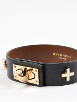 Givenchy: Bracelets & Bangles online - Shark leather bracelet
