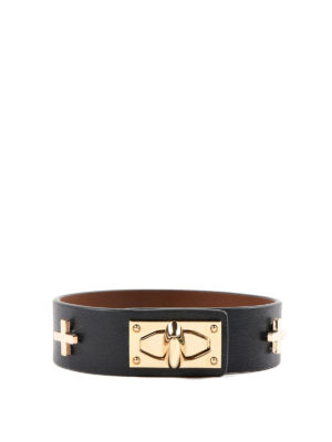 Givenchy: Bracelets & Bangles - Shark leather bracelet