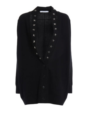 Givenchy: cardigans - Cashmere over cardigan with stars
