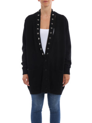 Givenchy: cardigans online - Cashmere over cardigan with stars
