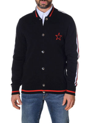Givenchy: cardigans online - Embroidered cotton sporty cardigan