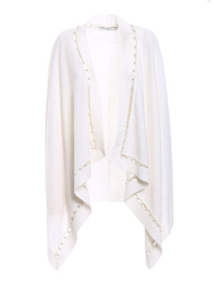 Givenchy: cardigans - White pearl trim open cardigan