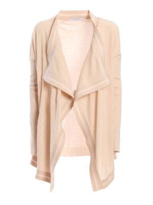 Givenchy: cardigans - Wool asymmetric cardigan