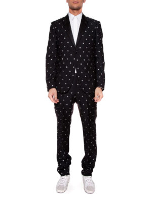 Givenchy: casual suits online - Stars patterned wool suit