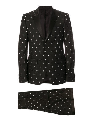 Givenchy: casual suits - Stars patterned wool suit