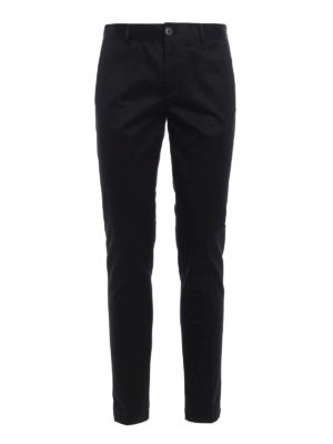 Givenchy: casual trousers - Cotton twill chino trousers