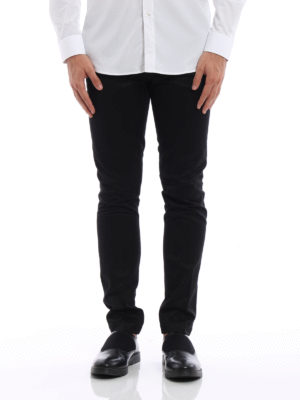 Givenchy: casual trousers online - Cotton twill chino trousers