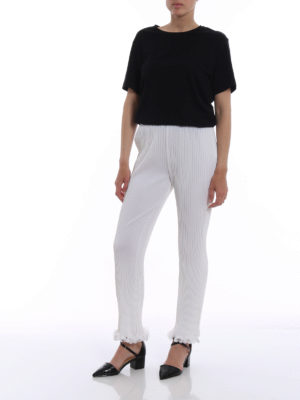 Givenchy: casual trousers online - Ruched pleated trousers