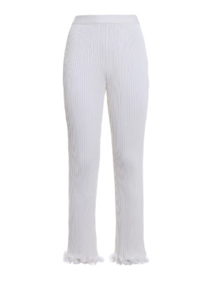 Givenchy: casual trousers - Ruched pleated trousers