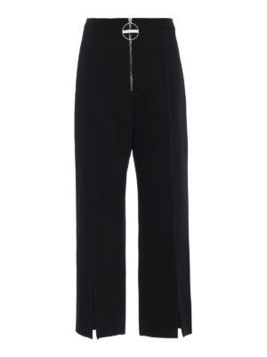 GIVENCHY: pantaloni casual - Pantaloni ampi in lana con taglio sul fondo