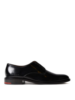 Givenchy: classic shoes - Brushed black leather Derby shoes
