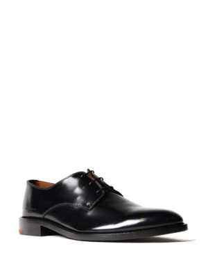 Givenchy: classic shoes online - Brushed black leather Derby shoes