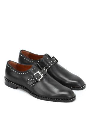Givenchy: classic shoes online - Studded leather monk straps