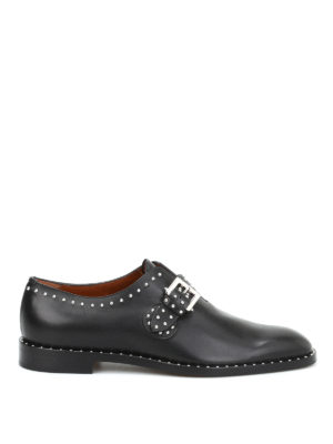 Givenchy: classic shoes - Studded leather monk straps