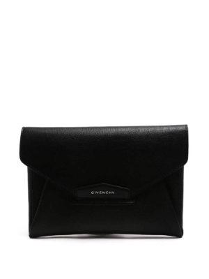 Givenchy: clutches - Antigona Envelope leather clutch