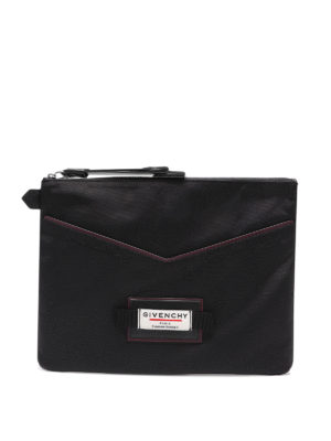GIVENCHY: clutches - Downtown logo patch clutch